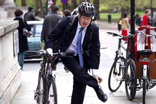 Boris Johnson Biking London