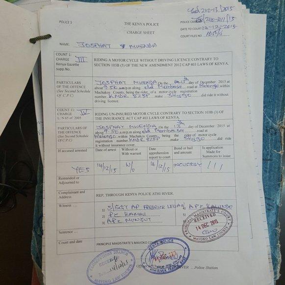 Kenya Charge Sheet