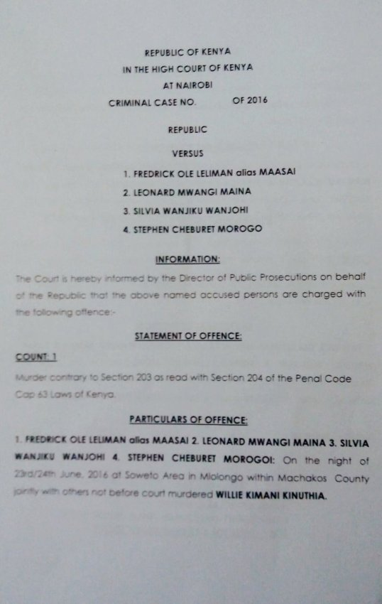 Kenya Criminal Case 18.07.2016 P1