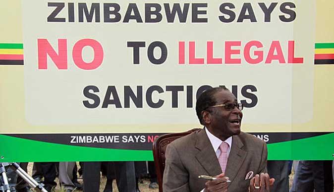 santions Mugabe