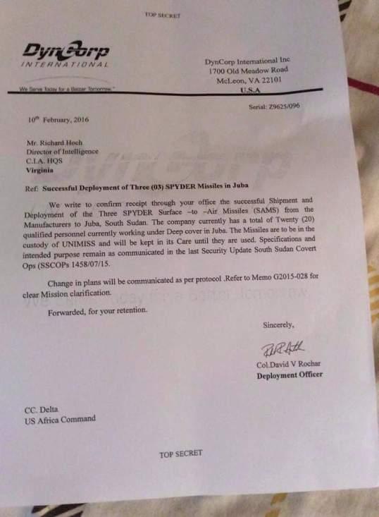 South Sudan CIA Letter 2016 P2