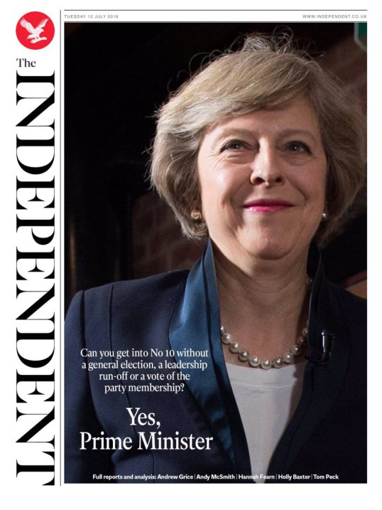 Theresa May Front Cover
