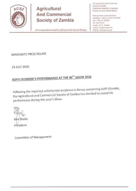 Zambia Koffi 24.07,2016