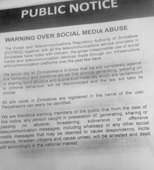 Zim - Social Media July 2016