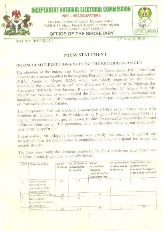 Nigeria IEBC Press Release 23.08.2016 P1