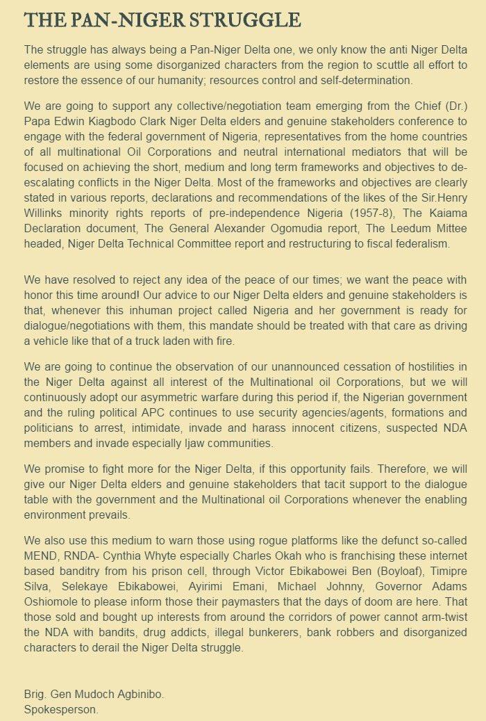 Pan Niger Struggle Niger Delta Avengers