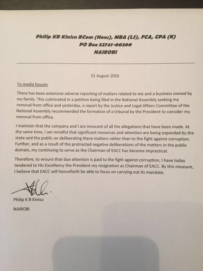 Phillip Kinsu Letter Aug 2016