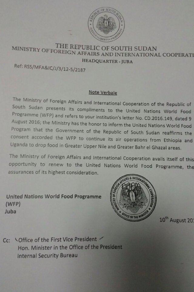 South Sudan WFP 10.08.2016