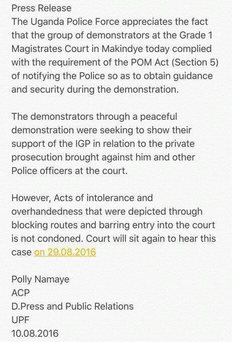 UPF Makindye Court 10.08.2016