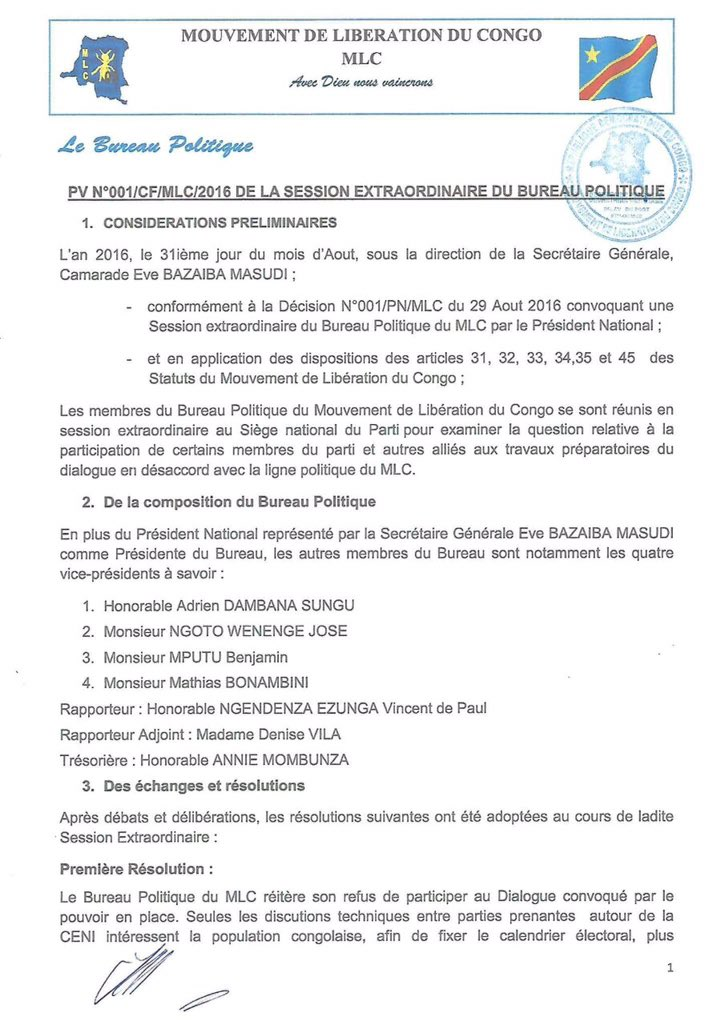 RDC MLC 05.09.2016 P1