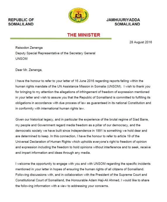 Republic of Somaliland Aug 2016