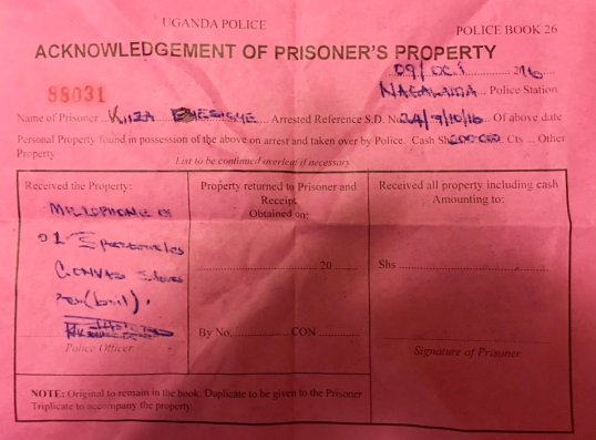 kizza-besigye-09-10-2016-prison-document