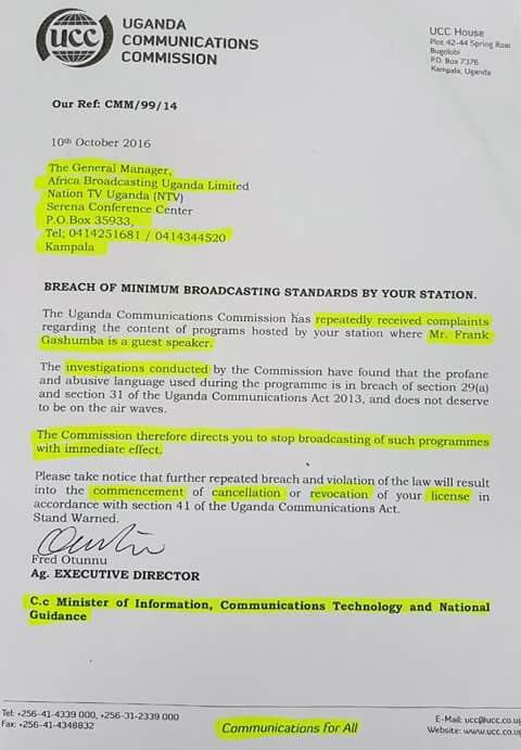 NTV Uganda 10.10.2016