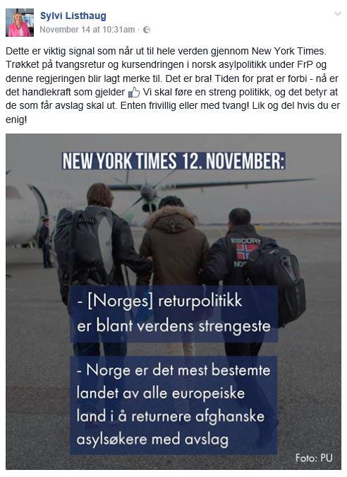 listhaug-facebook-14-11-2016