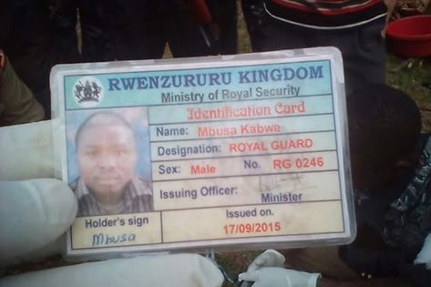 One of killed Royal Guards ID Card!