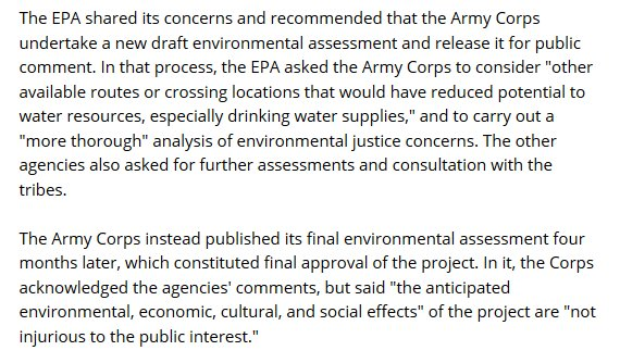 EPA on DALP Pipeline Route before Pre-Trump Era!