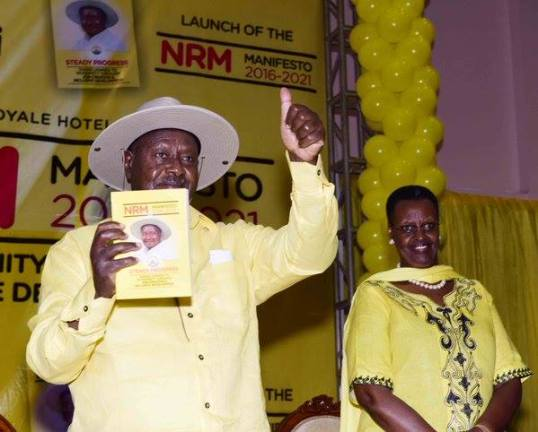 president-museveni-and-first-lady-janet-museveni-at-the-launching-of-the-nrm-manifesito