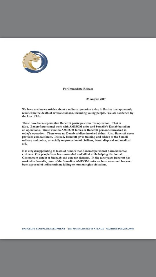 Republic of somalia minbane page 7 somalia bancroft statement on the operation in bariire 25082017 publicscrutiny Images