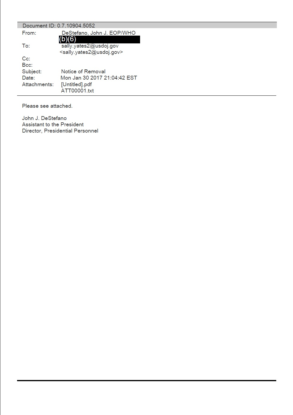 general termination letter