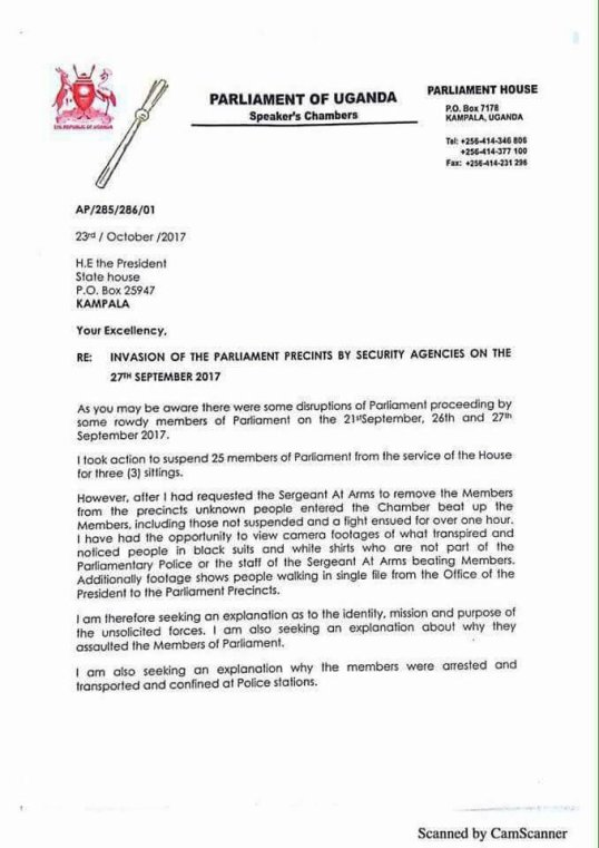 Age limit rebecca kadagas letter to president museveni on the 23rd age limit rebecca kadagas letter to president museveni on the 23rd october 2017 and musevenis answer today by parliament telegram 03112017 altavistaventures Images