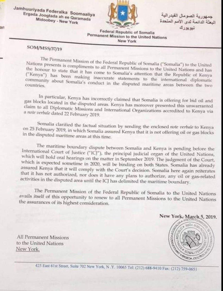 Somalia: Federal Republic of Somalia – Permanent Mission to
